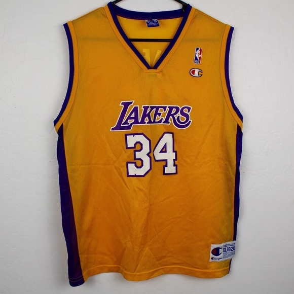 f90cecc549a Champion Other - Champion L.A. Lakers Shaquille O Neal Shaq Jersey